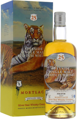 25 Years Old Silver Seal Wildlife Collection Cask 3911 52.4%Mortlach -