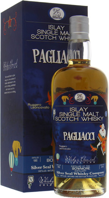Bowmore - 25 Years Silver Seal Ruggero Leoncavallo Pagliacci 49.6% 1990