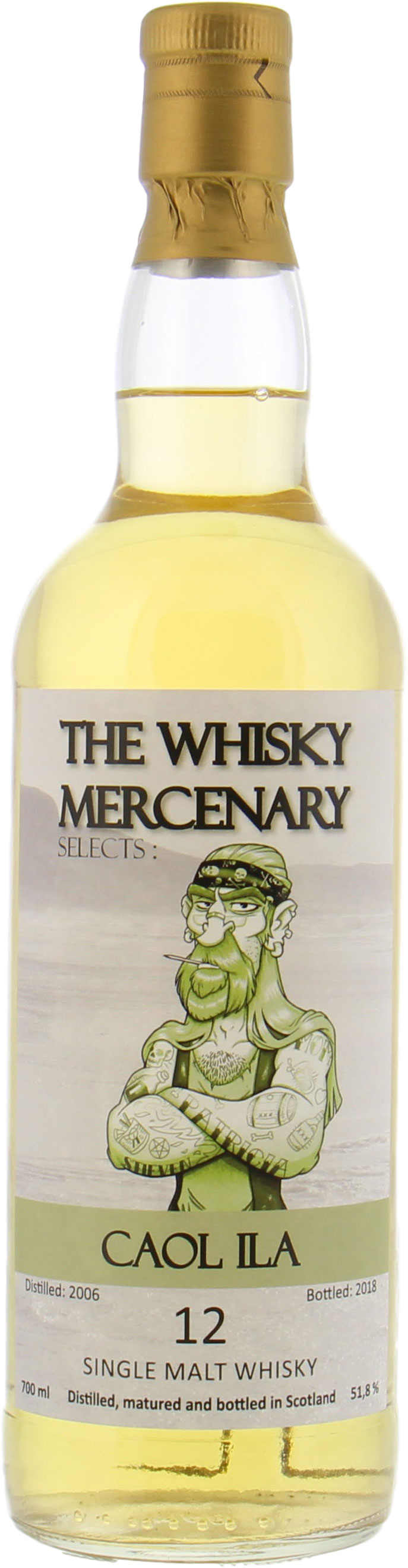 Caol Ila - 12 Years Old The Whisky Mercenary 51.8% 2006