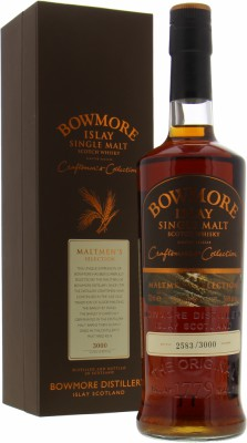 13 Years Old Maltmen's Selection casks 1551 - 53, 59 + 60Bowmore -