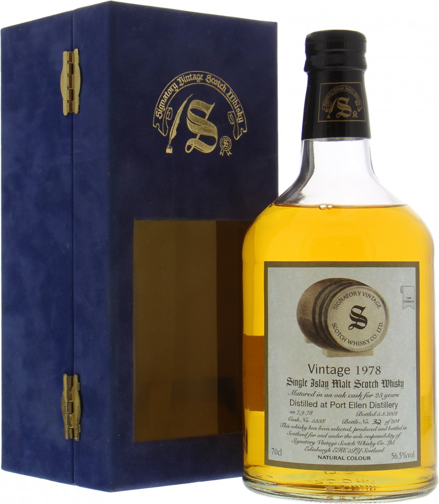 Port Ellen - 23 Years Old Signatory Vintage Dumpy Cask 5338 56.5%