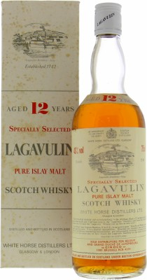 Lagavulin - 12 Years Pure Islay Malt White Horse Distillers 43% Late 70's