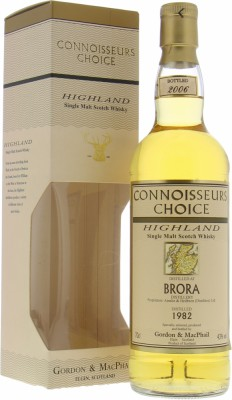 Brora - 24 Years Old Gordon & MacPhail Connoisseurs Choice Map Label 43% 1982